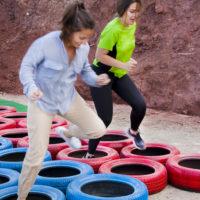 Castillo Takeshi Paintball Mountain Carrera de ruedas